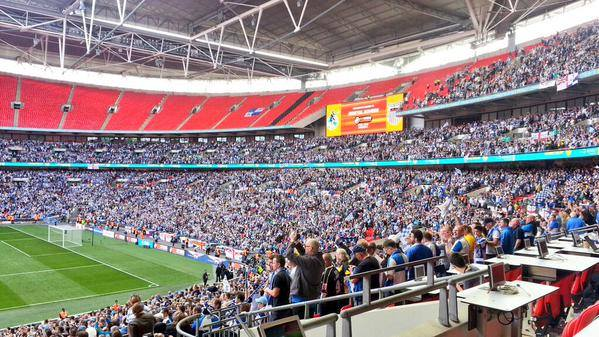 ON THIS DAY 2015: Bristol Rovers returned to the Football League after beating Grimsby Town at Wembley #BRFC #BRISTOLROVERS