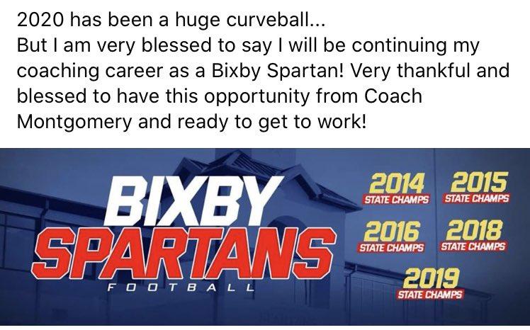 Blessed to be a Spartan! @BixbySpartanFB https://t.co/N2GlpXRVKr