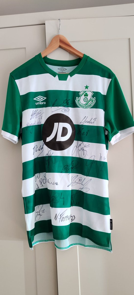 (2) The winner of the @ShamrockRovers signed jersey is @BPHIL85. 🥇 Congratulations ☘️