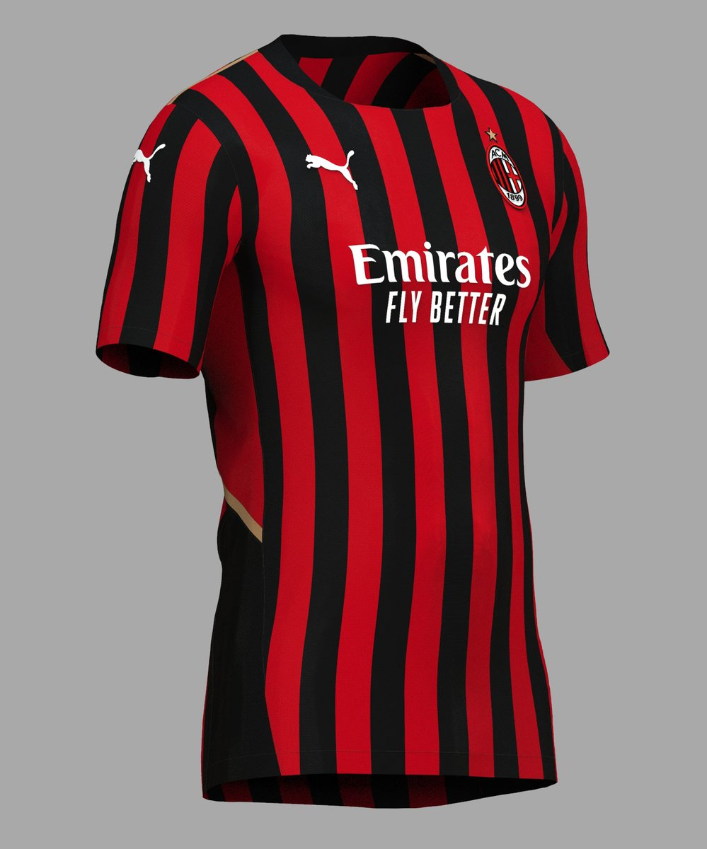 Jack Henderson On Twitter Ac Milan Home Shirt Concept Using The 2021 Puma Design From Yesterday Front Back Obligatory Crest Close Up