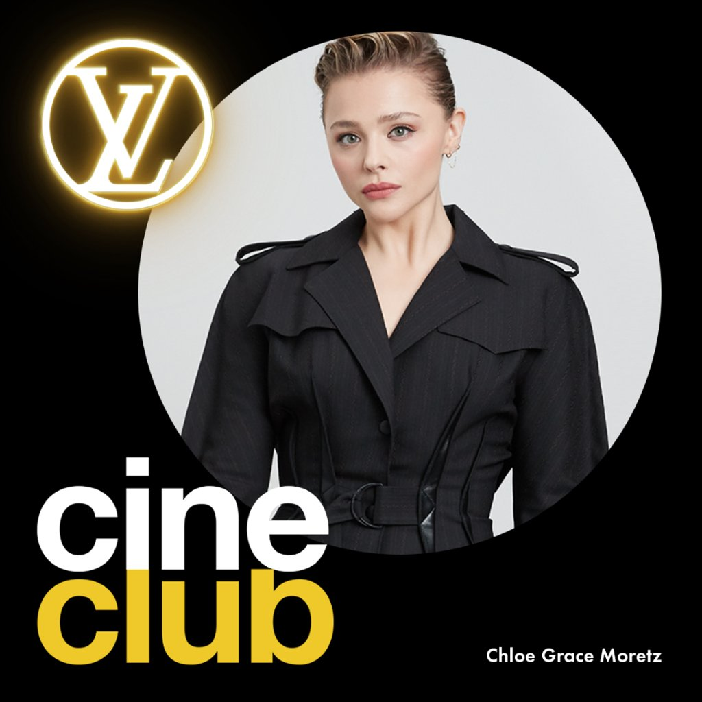 LV Cine Club with #ChloeGraceMoretz #LouisVuittons ambassadors are sharing a current selection of movies and series to watch while at home. Discover Chloë's picks now.