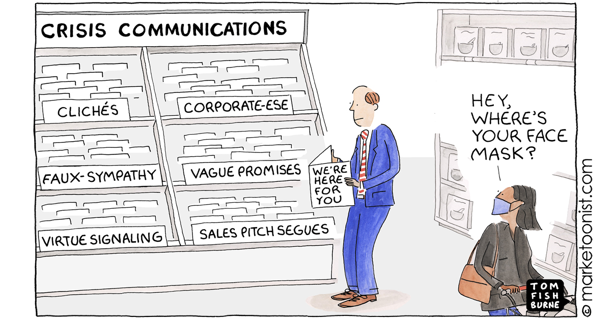 """""""Communicating in a Crisis"""" - new cartoon and post on the difference between empathy and sympathy https://t.co/FTZFJMQjvJ #marketing #cartoon #marketoon https://t.co/MwE2e8UZJu"""