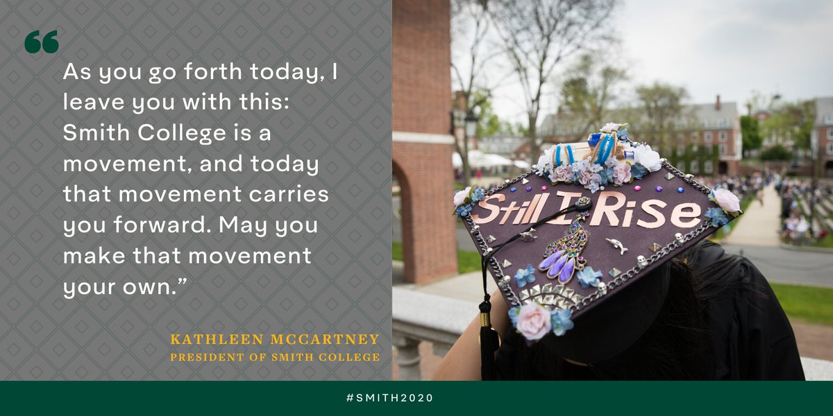 'Make the movement your own,' urges @presmccartney in some final words to the class of 2020.