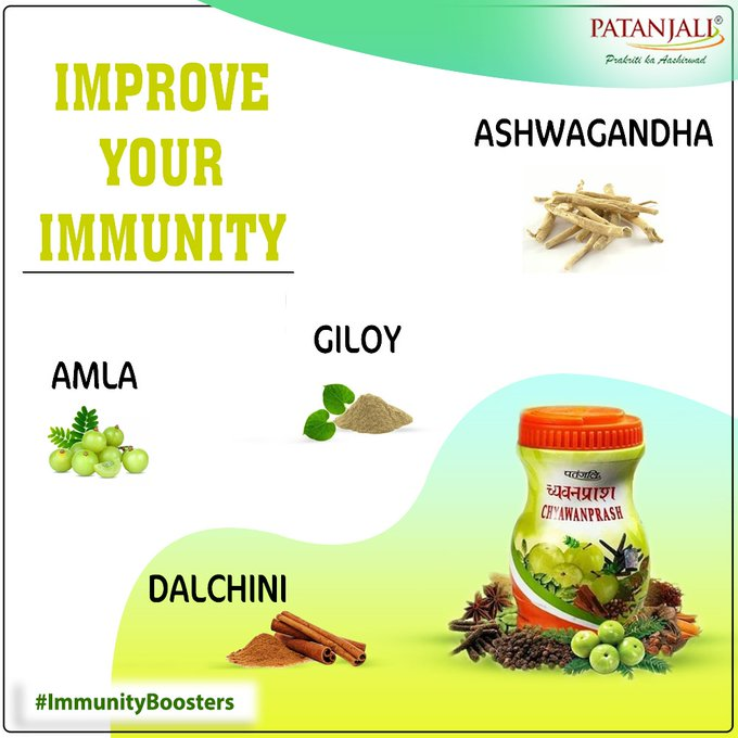 Patanjali Chyawanprash is prepared from various natural herbs which also acts as a natural immune system booster and provides protection against various diseases. #PatanjaliProducts