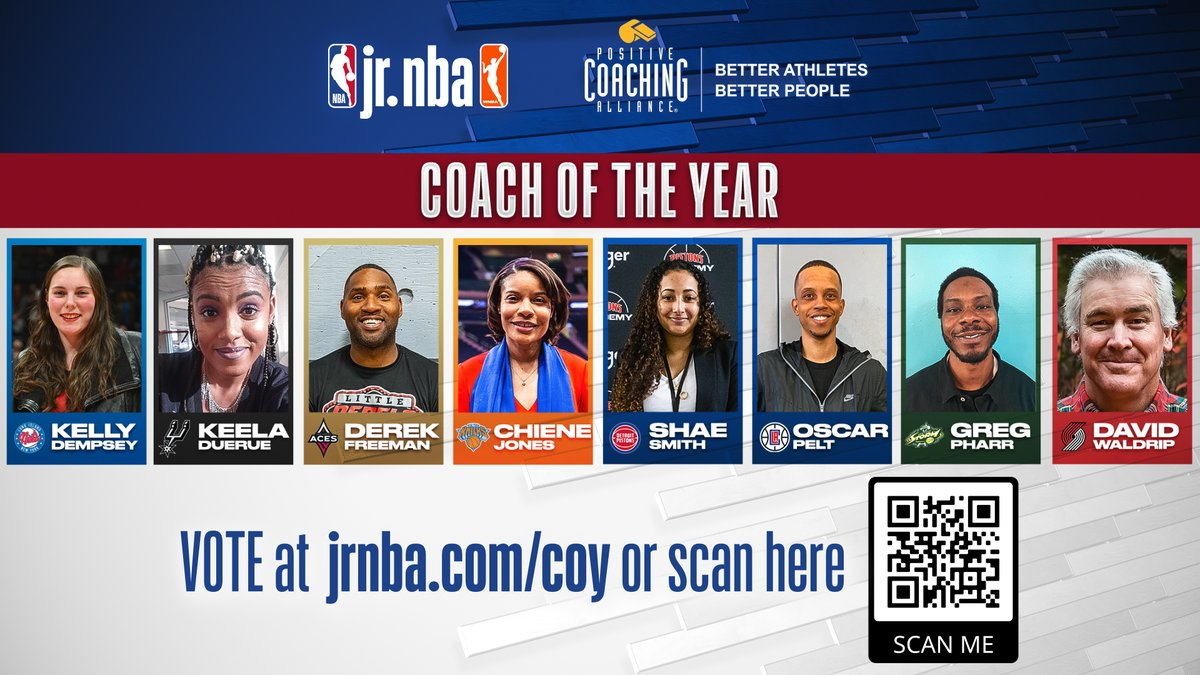 It's the FINAL DAY for #JrNBACOY voting‼️  Jr. NBA Coach of the Year voting ends today, so get over to Jr. NBA Twitter and https://t.co/dSaI7Q5kO1 🔥 Tag your friends below & remind them to vote now before it's too late 🏆 https://t.co/XyngobFyLT