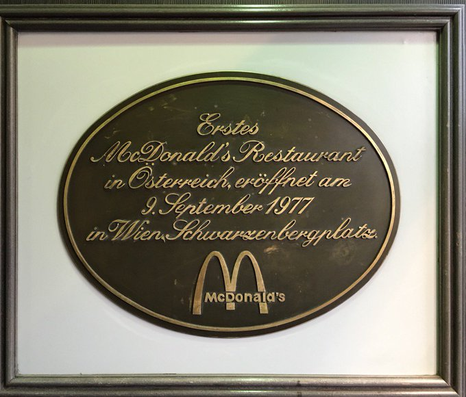 Wow. There are European countries with 'younger' constitutions than this restaurant    #Wien #Vienna #Oesterreich #McDonalds #fastfoodpic.twitter.com/KSXQ1fECZn