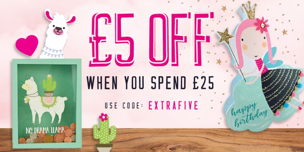 Here's an offer for you to use at https://t.co/S0hLcAx32f: Enjoy £5 off your order when you spend £25 or more using the discount code EXTRAFIVE at the checkout, and remember to #staysafe and #sendasmile 🌈💌💗   #onlinecardshop #greetingcards #sendacarddeliverasmile #lovekates https://t.co/EmZuTXqmkm