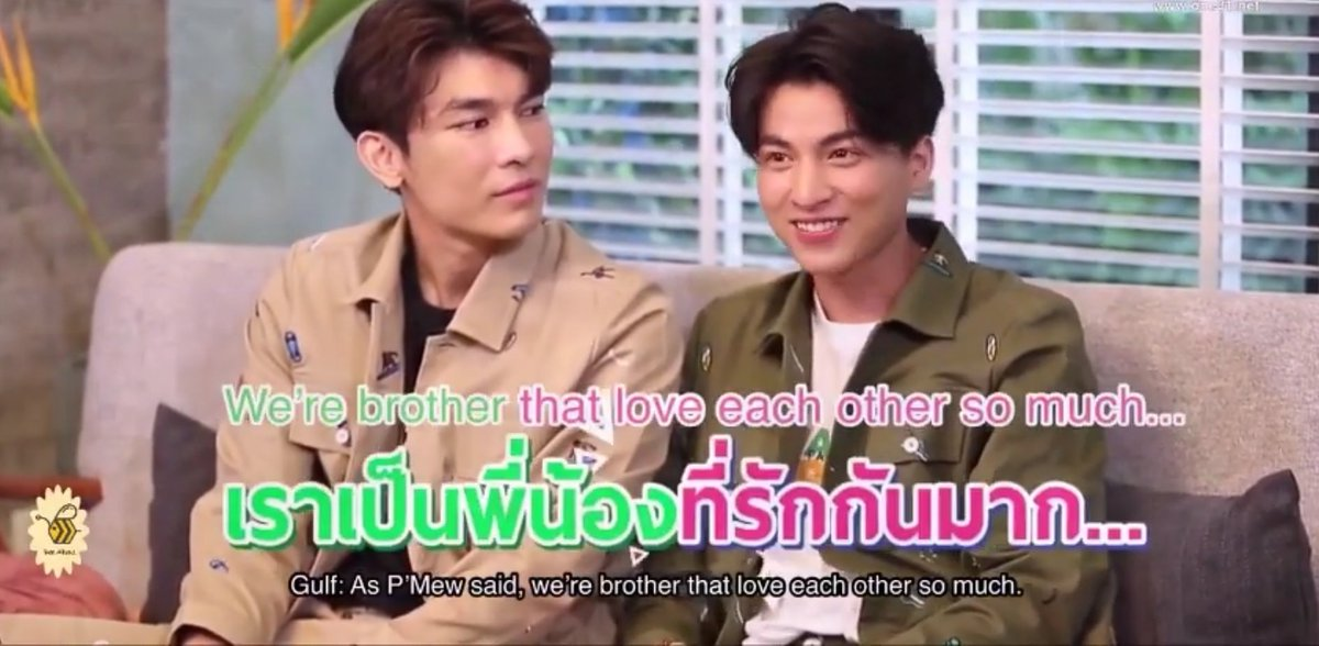 Last but not the least:Tharn declares himself as Type's boyfriend-to-be on Episode 5. Type deadass told Puifai he was dating someone even though he wasn't sure Tharn would forgive him, on Episode 6.But MewGulf, 1 year later?STILL PHI NONG WHO LOVE EACH OTHER KRUB
