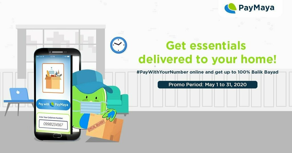 """RT iSTORYAnet """"Just #PayWithYourNumber when you order your essentials online!   🅿️ Click on the """"Pay with PayMaya"""" button in the checkout page of our partner merchants! 💯 Get 1%, 10% or 100% cashback, capped at P500 ✅ Minimum spend required is P500  … """""""