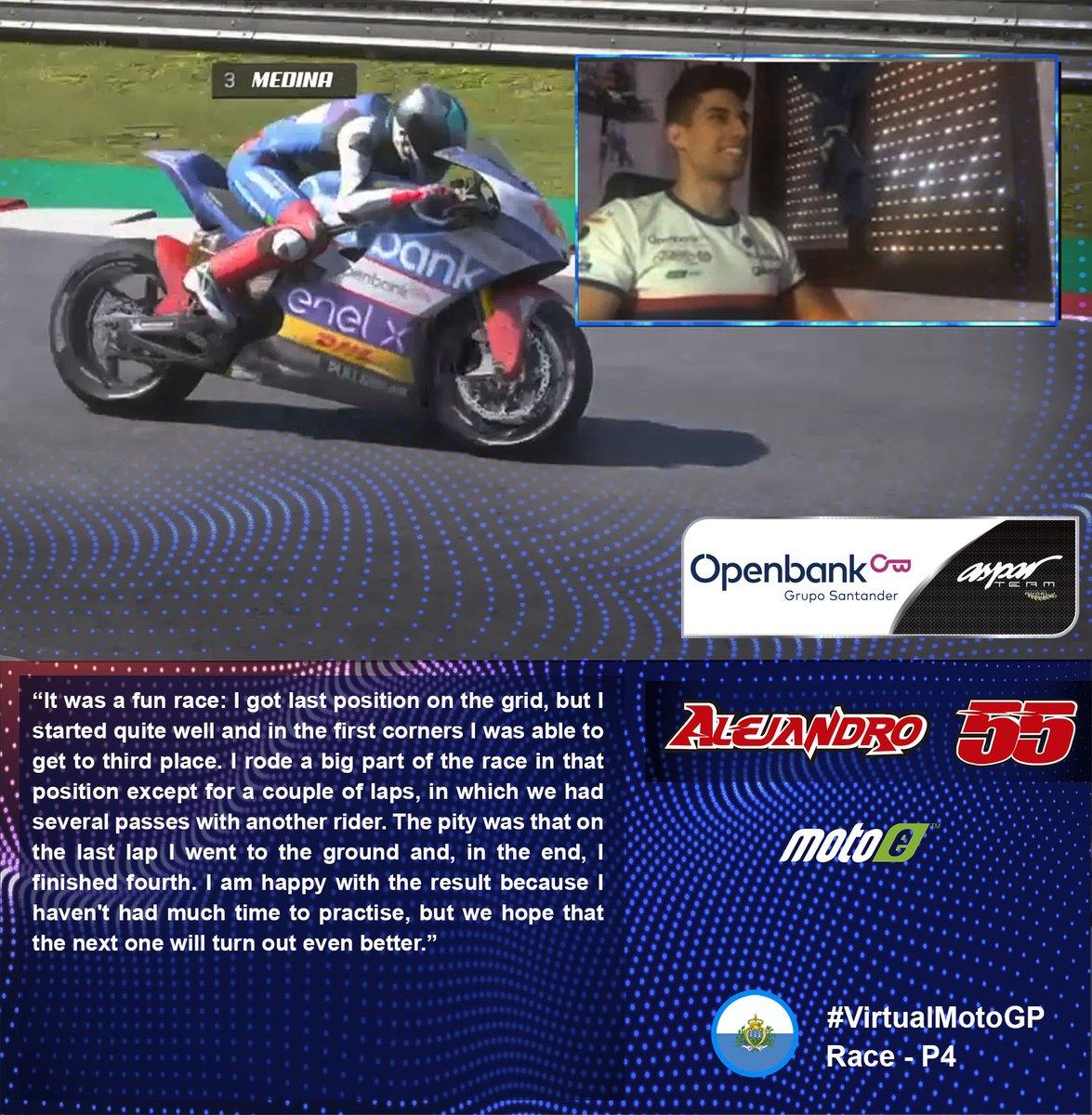 🎙️ @55_alejandro_ 🇬🇧 📰 | teamaspar.com/en/moto-e/news… #VirtualMotoGP @MotoGPeSport