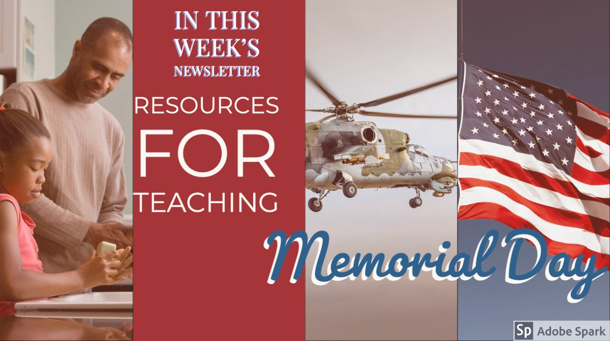 Memorial Day is Next Monday. Teach w/ These Resources. - https://mailchi.mp/4d035a05d14f/a-unit-plan-on-creation-a-study-showing-importance-of-early-school-achievement-and-much-more-4421572…   #k12 #sda #eduresources #memorialday #teachershelpteachers pic.twitter.com/tDB0ZF2ek0