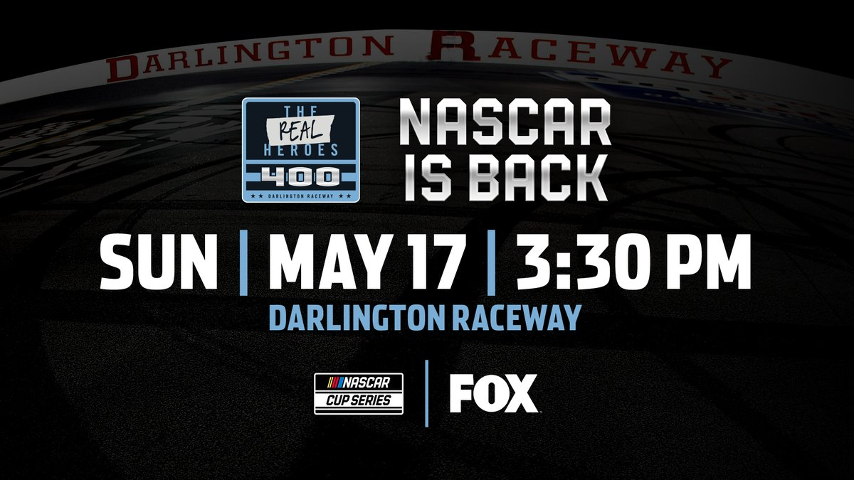 Weve all been waiting months for it and the day is finally here! Its race day 😎 #TheRealHeroes 400 is TODAY on FOX starting at 2:30 CT!