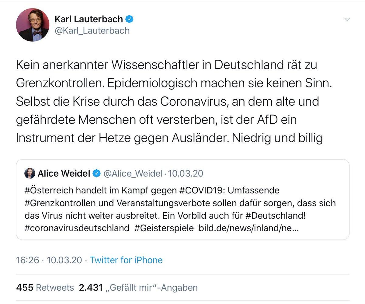 Derb On Twitter Meine Charts Des Universalgelehrten Karl Lauterbach Apokarlypse Annewill