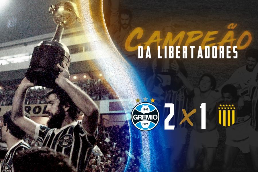 FIM DE JOGO: #Grêmio 2x1 Peñarol PODE GRITAR, GREMISTADA! É CAMPEÃÃÃÃÃÃÃÃÃÃÃÃÃÃÃÃÃÃÃÃÃÃÃÃÃÃÃÃÃÃOOOOOOOOOOOOOOOOOOOOOOOOOOOOOOOOOOOOOOOOOOOO!!!!!!! A LIBERTADORES É NOSSA!!!! 🇪🇪🏆🏆🏆 #OPesoDaTradição #GRExPEN #Libertadores1983 https://t.co/cSxaVA6e6h