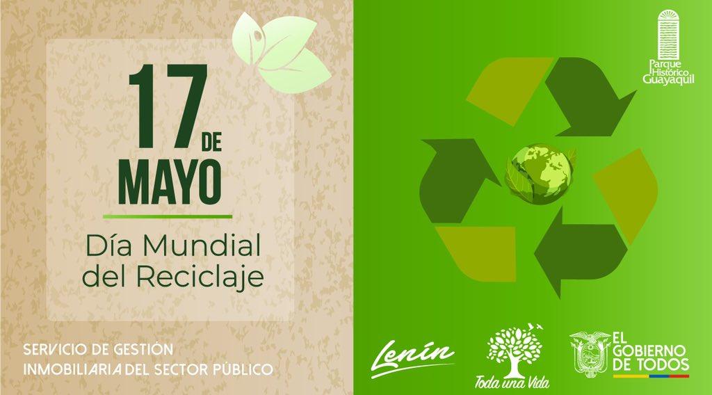 Hoy se celebra el #DíaMundialDelReciclaje con el objetivo de comprometer y realizar acciones sustentables que permitan reducir, reutilizar y reciclar. 🌳 🌎 https://t.co/YRxuWdFO1T