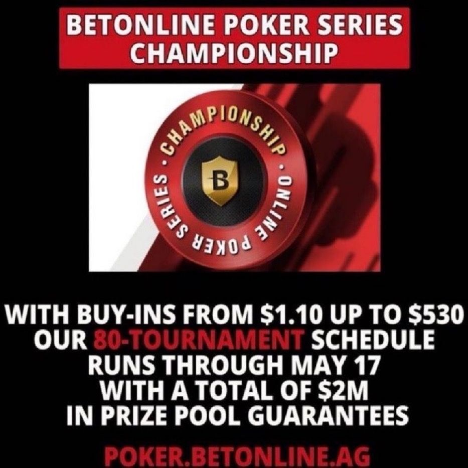 Betonline Ag On Twitter It S The Final Day Of The Betonline Poker Series Championship Don T Miss Out To Play Https T Co Eaclc4ucyr The Complete Schedule Https T Co Ezfus0qlzn Https T Co Dwwnkqz0q6