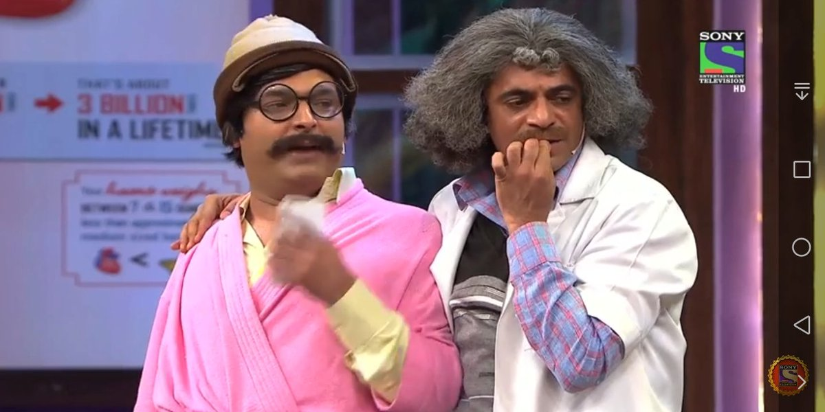 @KapilSharmaK9 @WhoSunilGrover  watching both of you rocking TKSS. missing both of you guys to be together. <br>http://pic.twitter.com/G4DoRmDG6t