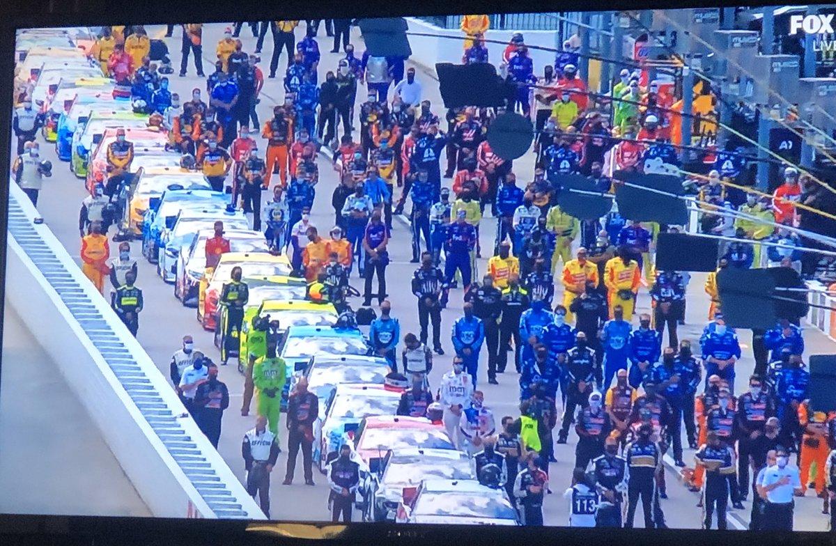 NASCAR wears masks.