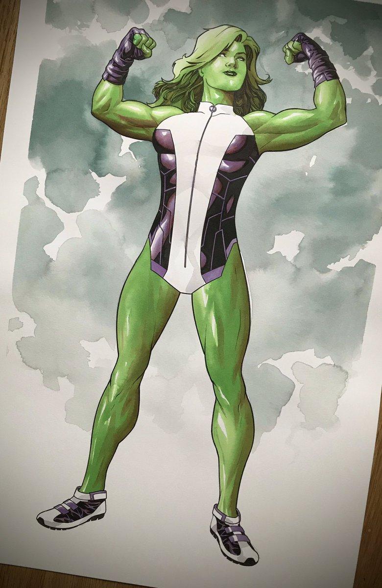 She Hulk #shehulk #marvelcomics #mckone tdartgallery.com/ArtistGalleryR…