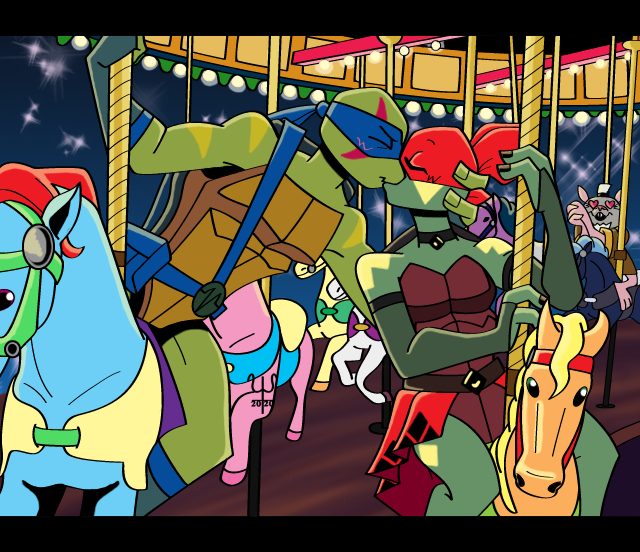 Another screenshot I did of my OC Maggie with Leo fr/#rottmnt The bg was a challenge, but still fun to do XD #fanart #originalcharacter  #TMNT #tmntoc