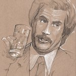 Image for the Tweet beginning: This art is Ron Burgandy?  🎨