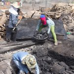 Image for the Tweet beginning: Making charcoal. #VirtualTour #VirtualThailand #Thailand