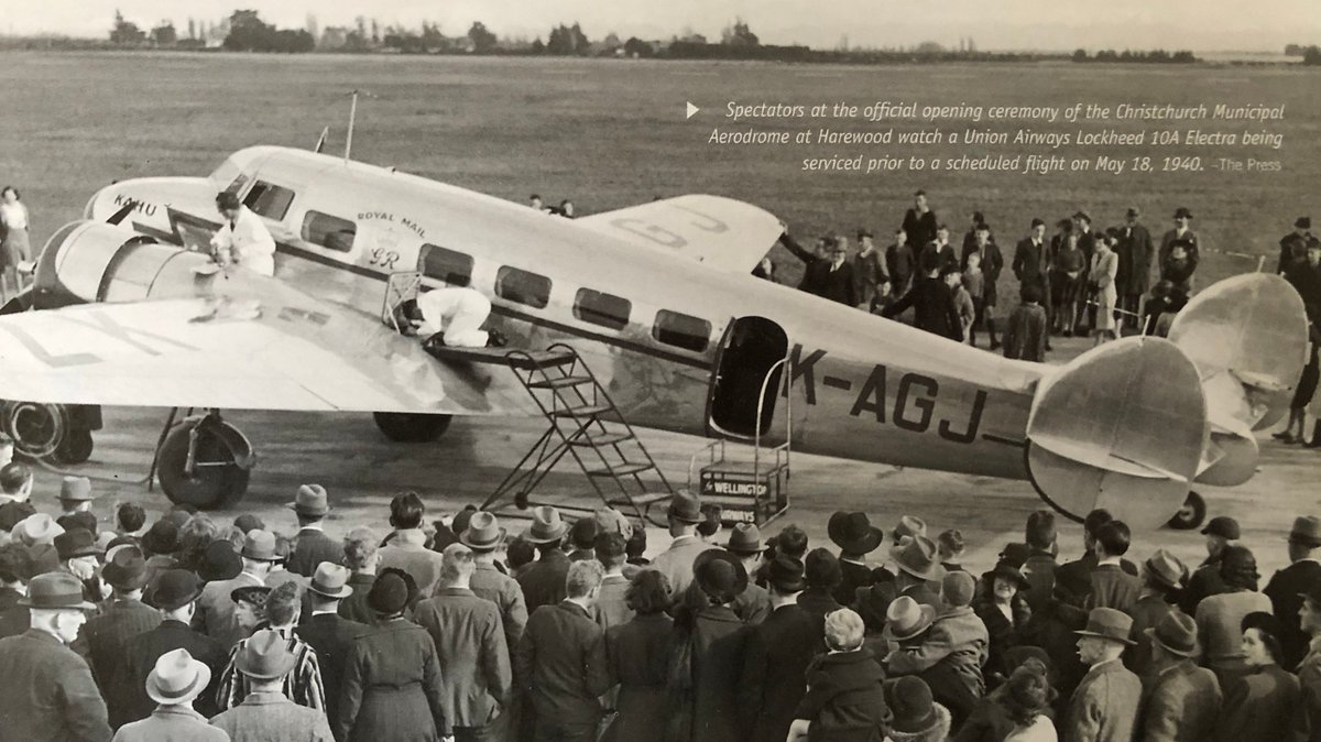 80 years ago #onthisday in 1940, more than 1,000 people witnessed the official opening of what was then known as Harewood Airport for commercial flying ✈