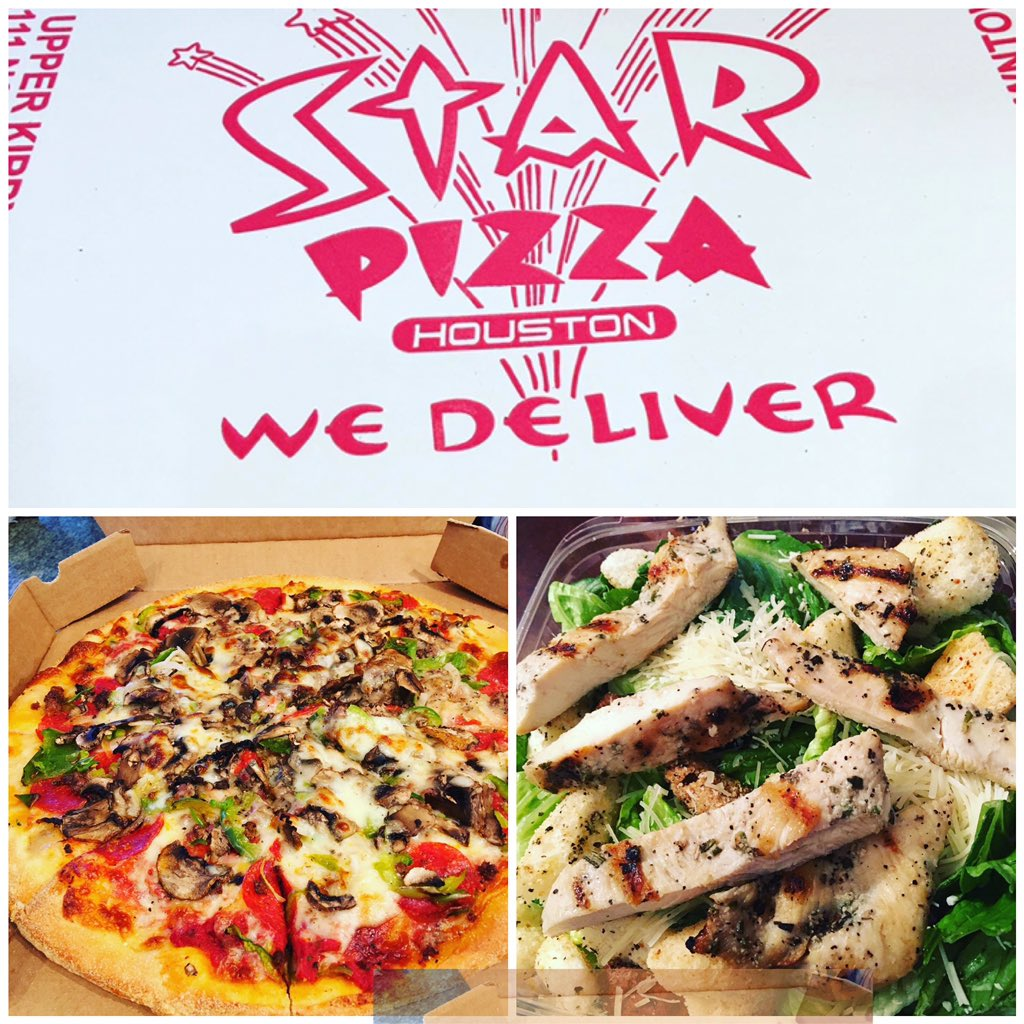 best pizza in houston! thanks starpizza for the great service! #starpizza #pizzaislife #cheatday #incheezuswetrust #inpizzawecrust #youwannapizzame #cutmylifeintopizzas #sliceslicebaby #pizzapuns @starpizzahou<br>http://pic.twitter.com/QQjgZc1WZg – à Star Pizza 2