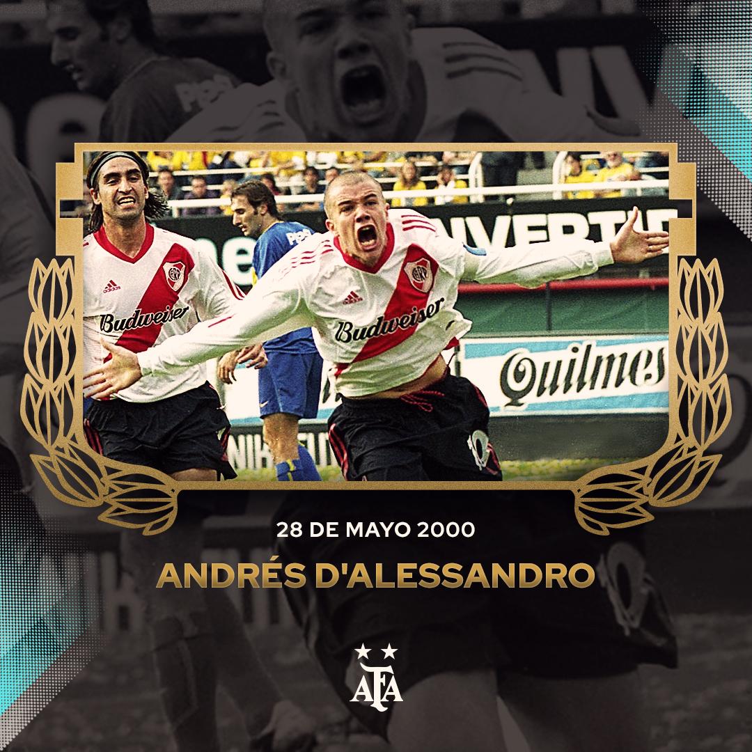 #Efemérides A 20 años del debut de Andrés D'Alessandro en #PrimeraDivisión.