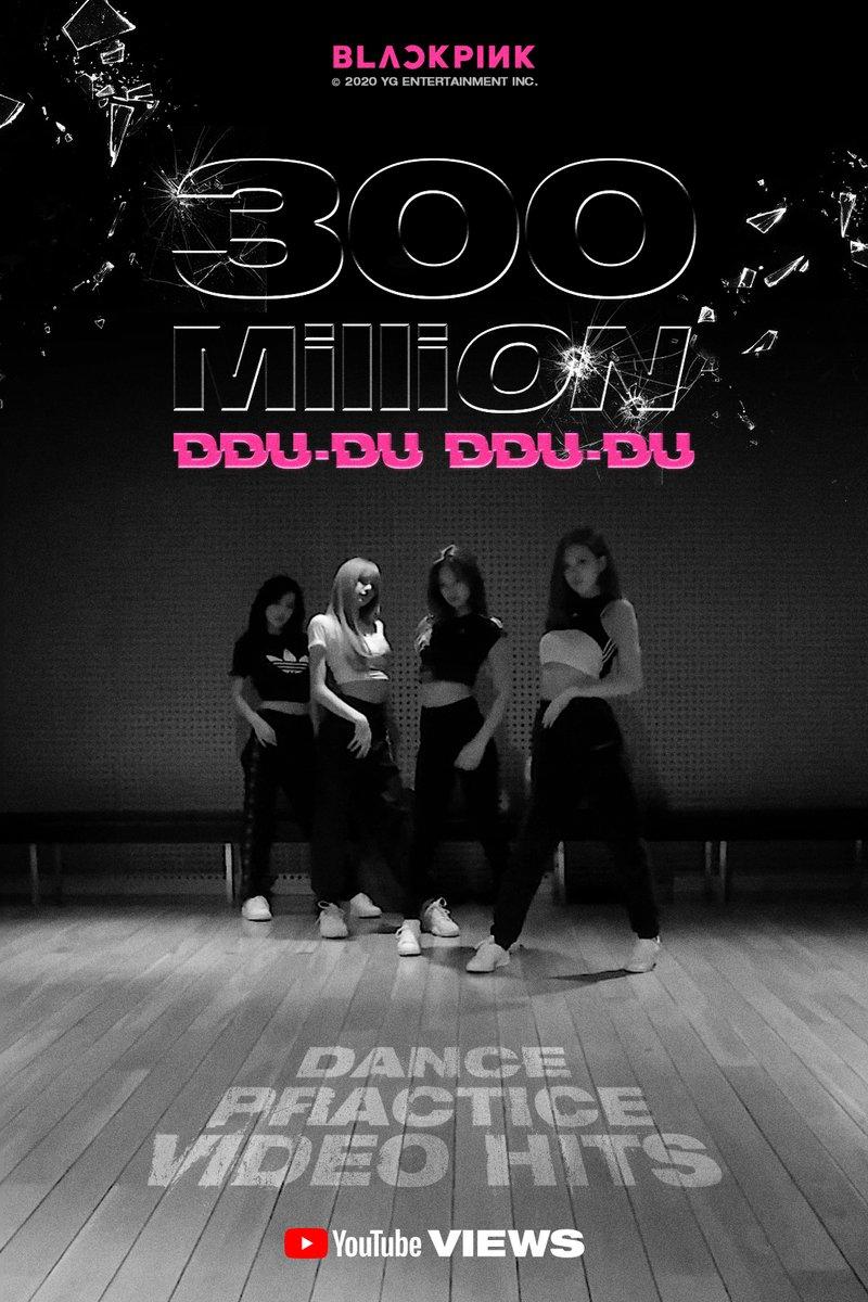 #BLACKPINK '뚜두뚜두 (DDU-DU DDU-DU)' DANCE PRACTICE VIDEO HITS 300 MILLION VIEWS @YouTubeBLINKs worldwide, thank you so much!   '뚜두뚜두 (DDU-DU DDU-DU)' DANCE PRACTICE VIDEOhttps://youtu.be/jOJbXvjZ-cQ  #블랙핑크 #뚜두뚜두 #DDU_DU_DDU_DU #DANCE_PRACTICE #안무영상 #YGpic.twitter.com/RwCAyHtFwH