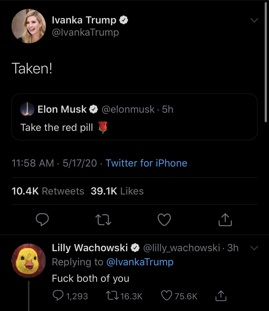 Jennifer Scheurle On Twitter The Internet Is Wild Today Summary Elon Musk Is Unexpectedly A Red Piller Ivanka Trump Jumps Onto The Reference In True Feminist Fashion And We Re Topping It All