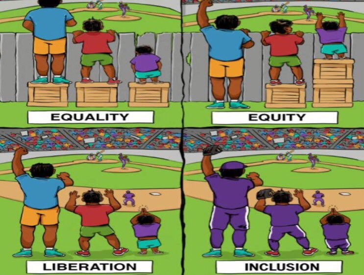 Know the difference. #DiversityandInclusion #Equity #Liberation pic.twitter.com/1wvobAAnI4