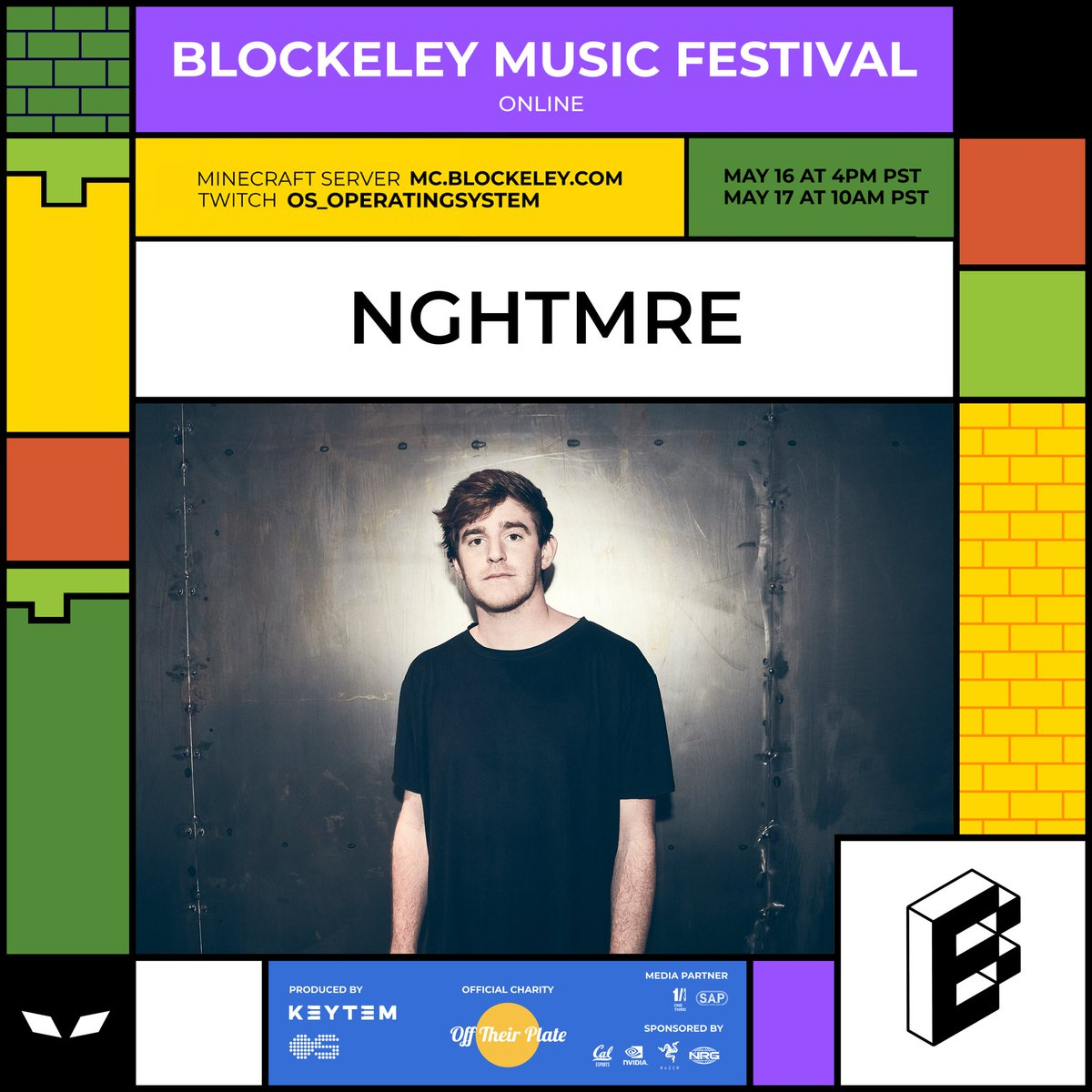 @NGHTMRE IS ABOUT TO POP TF OFF AT BLOCKELEY MUSIC FESTIVAL! MINECRAFT IP: MC.BLOCKELEY.COM LIVESTREAM: twitch.tv/os_operatingsy…