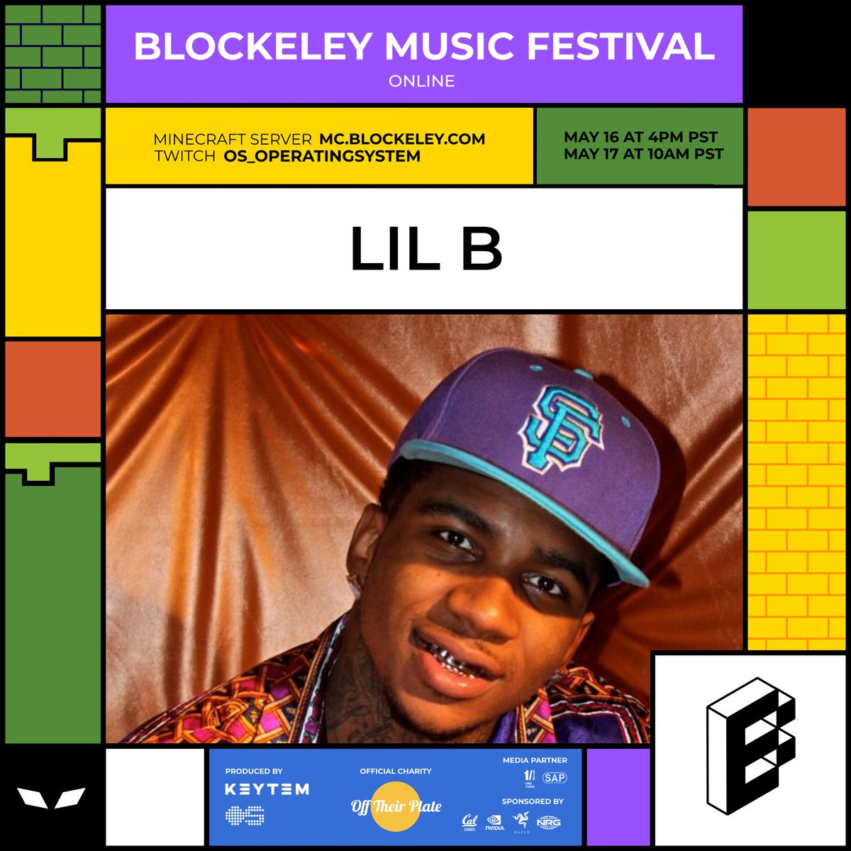 THE ONE AND ONLY LIL B THE BASED GOD @LILBTHEBASEDGOD IS PLAYING AT BLOCKELEY MUSIC FESTIVAL AT 11:10 PM PST! MINECRAFT IP: MC.BLOCKELEY.COM LIVESTREAM: twitch.tv/os_operatingsy…