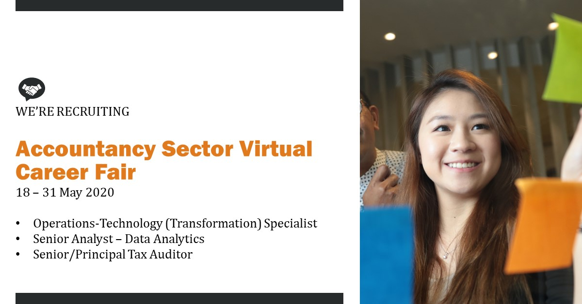 We're proud to be a part of the inaugural Accountancy Sector Virtual Career Fair happening from 18 to 31 May 2020. If you're an accounting professional on the lookout for your next big opportunity, come check our booth out. More on #CareersAtIRAS at https://t.co/cNqaTdBYIG 😉 https://t.co/nGEUBooOVm
