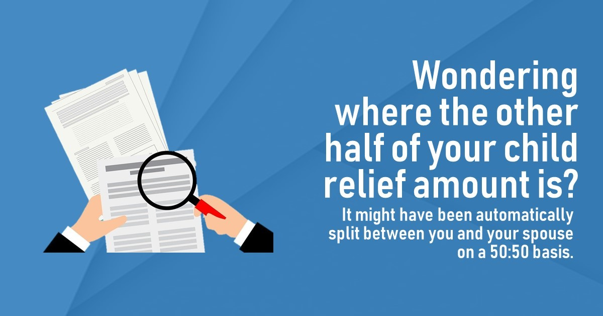 Looking at your tax form and wondering where the other half of the child relief you're entitled to is? 👀 Take a look at your spouse's form! https://t.co/NnVBaIghVg