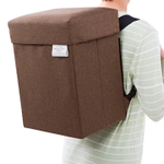 ファッション通販ニッセンさんのアイデア商品!玄関チェアをそれごと背負う防災リュック!