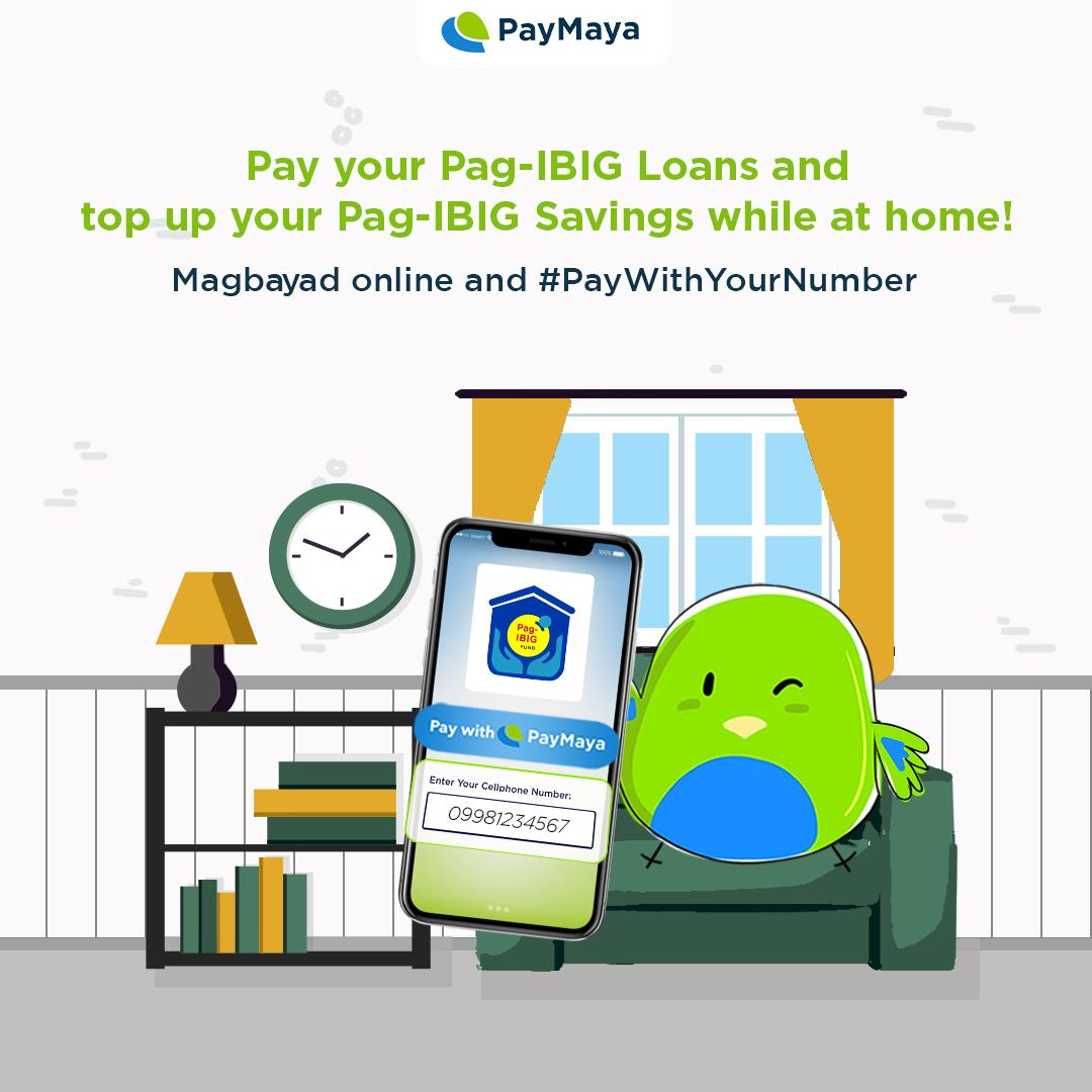 Good news! Pwede ka nang magbayad ng Pag-IBIG Housing Loan at mag-top up sa iyong Pag-IBIG Regular Savings at MP2 Savings online!  Just use your PayMaya account and #PayWithYourNumber!   Visit  to settle your payments now!