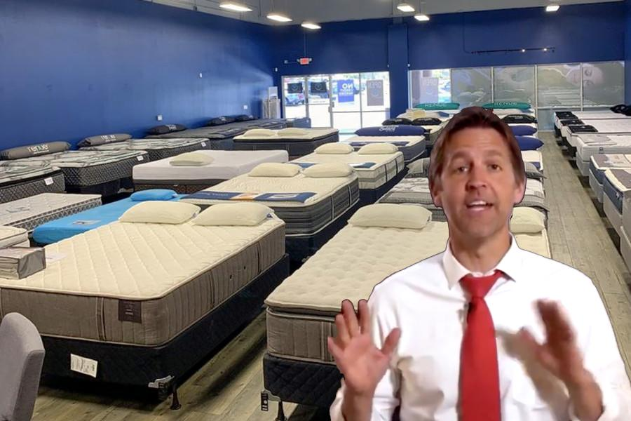 Originally I said I felt Ben Sasse looked like he could be trying and failing to be sell a mattress.  #ThisIsBenSasse<br>http://pic.twitter.com/AoqQtimI5J