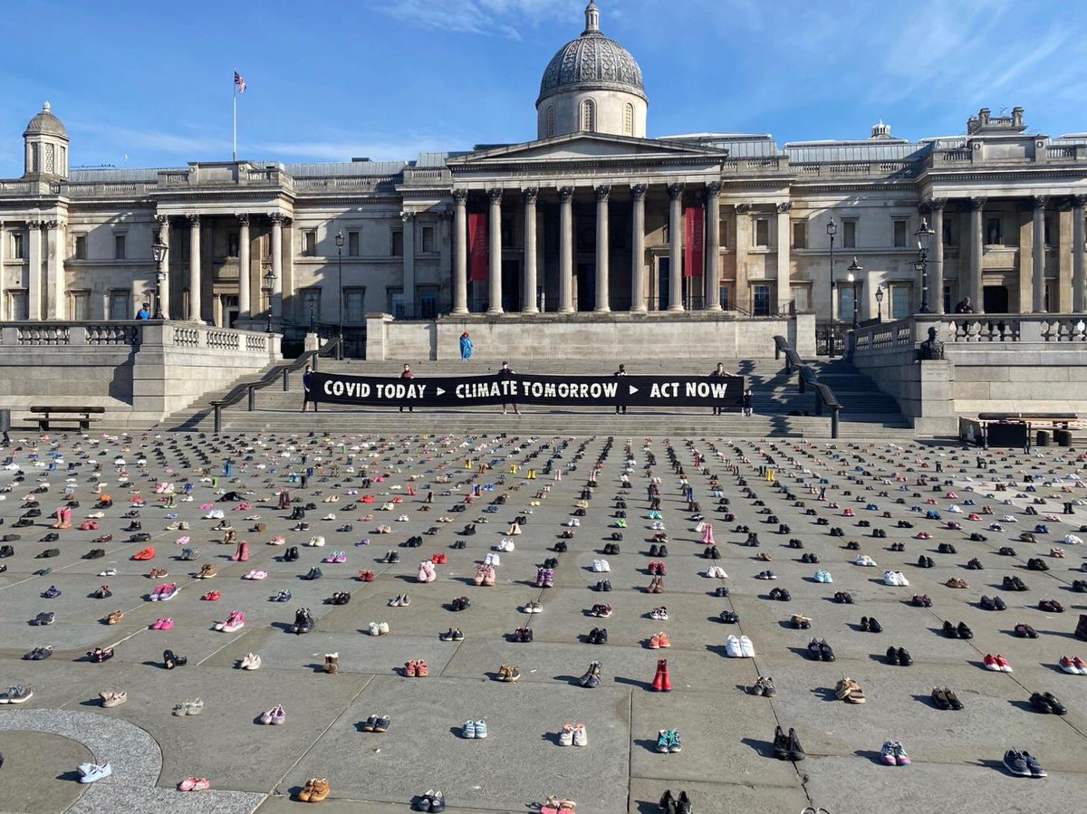 Trafalgar Square right now, there will be no vaccine for the #climatecrisis we need to Act Now and heads up - we are failing and face losing all we cherish and love @XRebellionUK