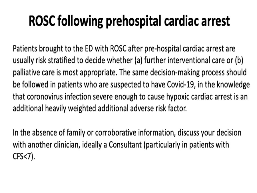 4/5. Following prehospital ROSC there is an evaluation of the risks and benefits of continuing treatment. https://t.co/pFNoRbgo8U