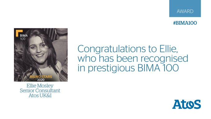 We are pleased to announce our own rising star @ellie_mosley has been recognised by @BIMA...