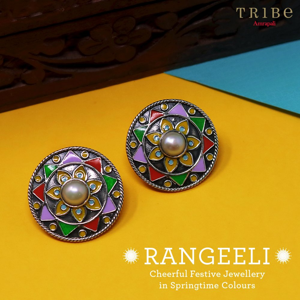 Explore the magic of glass and pearls in plain and gold-plated silver. Shop from this colourful collection today! http://bit.ly/TribeRangeeliCollection…  #TribeAmrapali #Jewellery #JewelleryLove #FashionJewellery #RangeeliCollection.pic.twitter.com/baYp3NftK2