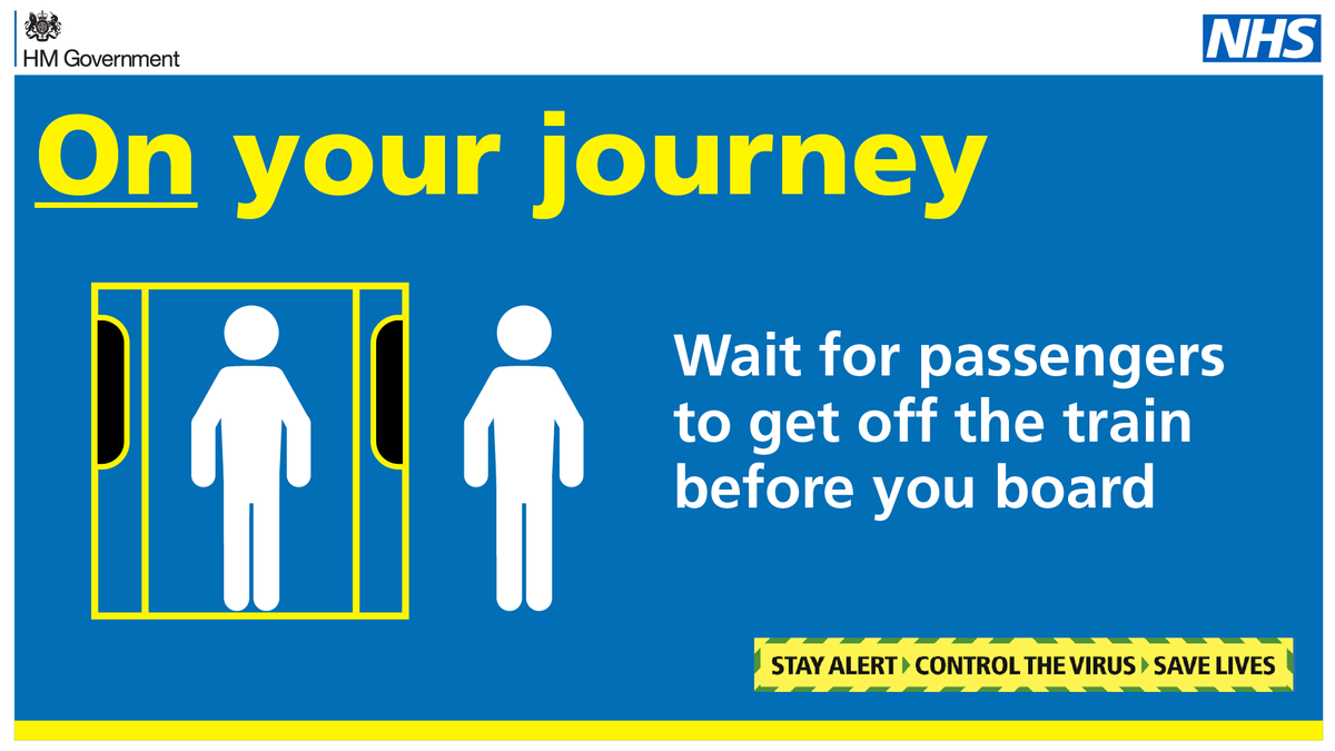Be courteous and #StayAlert: If you cannot avoid using public transport for necessary journeys, wait for passengers to get off the train or bus before you board. For further guidance on travel please visit gov.uk/government/col… #TravelSafely