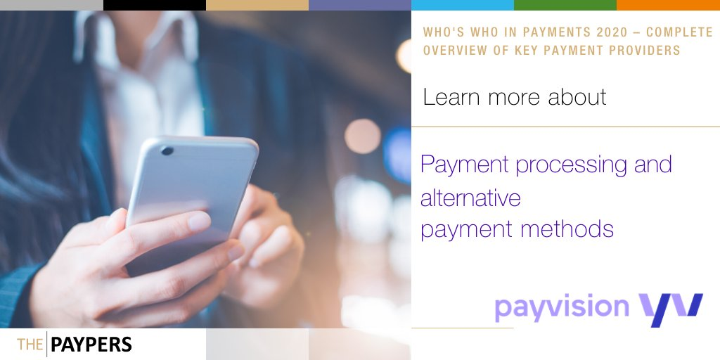 "Do you know all about @payvision? Read the entire profile of this company in our brand new ""Who's Who in Payments 2020 – Complete Overview of Key Payment Providers"" https://t.co/mrzMo3Aehf https://t.co/2f7f6aZ4zT"