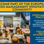 Image for the Tweet beginning: The Crisis Management Innovation Network