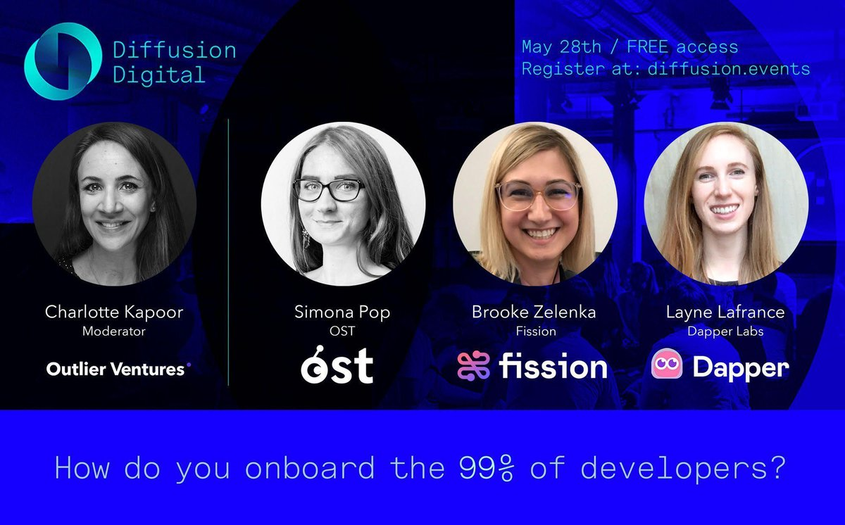 Blockchain adoption is one of our top priorities at OST so we're excited to join @FISSIONcodes & @dapper_labs to discuss ecosystem growth and dev onboarding.  Join our Chief Engagement Officer @Sim_Pop at @OVioHQ's #DifussionDigital at 5PM CET | May 28th   https://t.co/zBRIn5lVYR