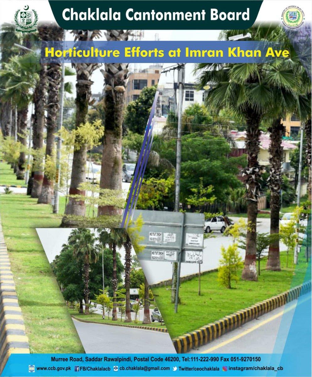 :: Horticulture Efforts at Imran Khan Ave ::  Chaklala Stays Green, Keep Chaklala Green  #CBCARE #CCB #Chaklala #Rawalpindi #Rawalpindians #Horticulture #ImranKhanAvenue #Scheme3 #ChaklalaScheme3pic.twitter.com/CRtkEjjiF3