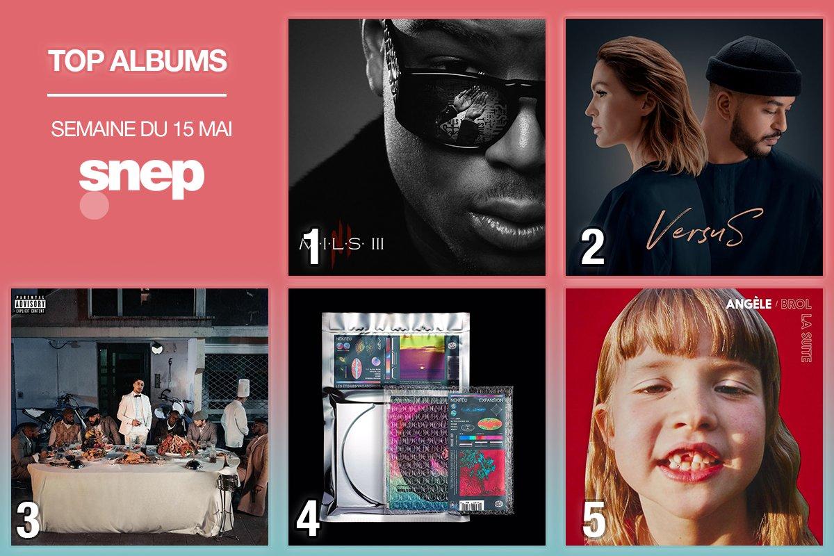 Le Top Albums de la semaine est disponible !   Classement complet   https:// bit.ly/TopAlbums220       Ninho  Vitaa & Slimane  Maes  Nekfeu  Angèle <br>http://pic.twitter.com/UnJvqwmDPL