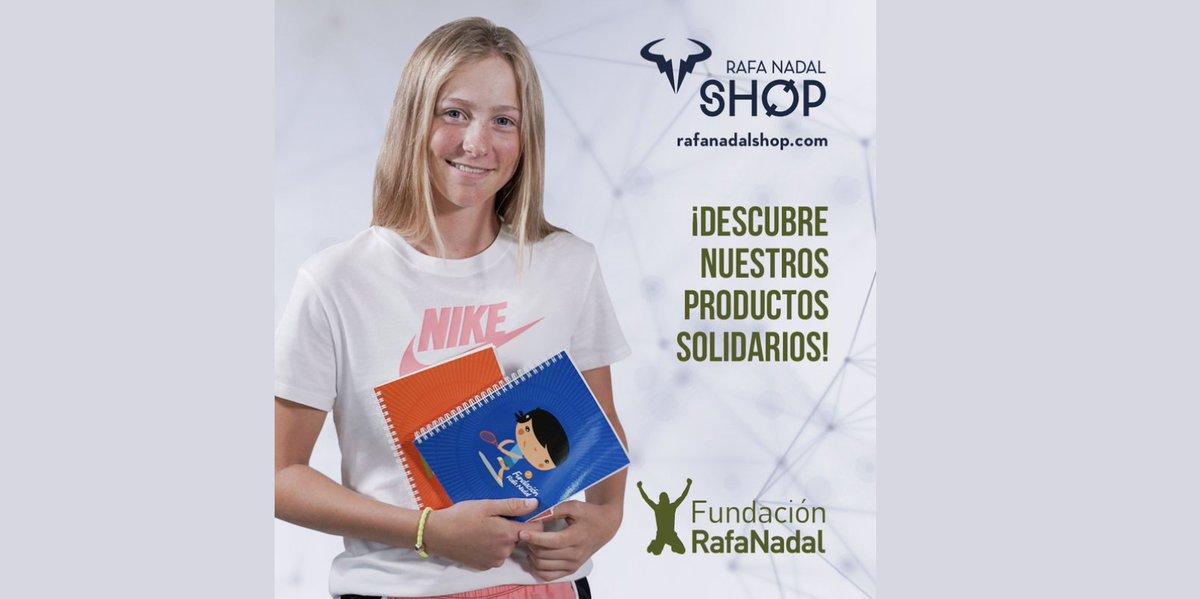 Regalos solidarios💚En la nueva tienda online de @rnadalacademy encontrarás una sección dedicada a la #FundaciónRafaNadal 🧡¡Descubre nuestra línea de productos para los más pequeños! https://t.co/3TsjYyBue8 https://t.co/qLxcTXFxnI
